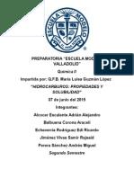 Hidrocarburos Propiedades y Solubilidad.