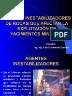 Agentes Inestabilizadores de agntes estabilizadores de roca