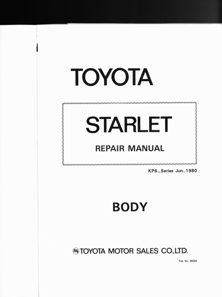 toyota starlet kp6 series body style wiring diagrams rh es scribd com toyota starlet ep91 wiring diagram toyota starlet wiring harness