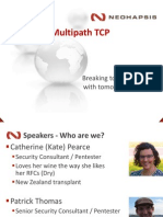 Multipath TCP Breaking Todays Networks With Tomorrows Protocols