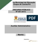 CONCURSO CAXIAS 2015 AUXILIAR ADMINISTRATIVO