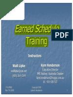 Earned Schedule Training IIPM 2005 Lipke & Henderson