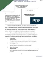 Joseph v. Corporation of the President Church of Jesus Christ of Latter-Day Saints et al - Document No. 26