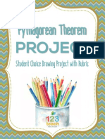 Pythagorean Theorem Free Drawing Project Assignment With Rubric