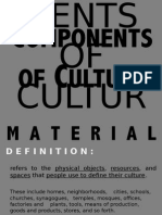 ANTHROPOLOGY - Components of Culture