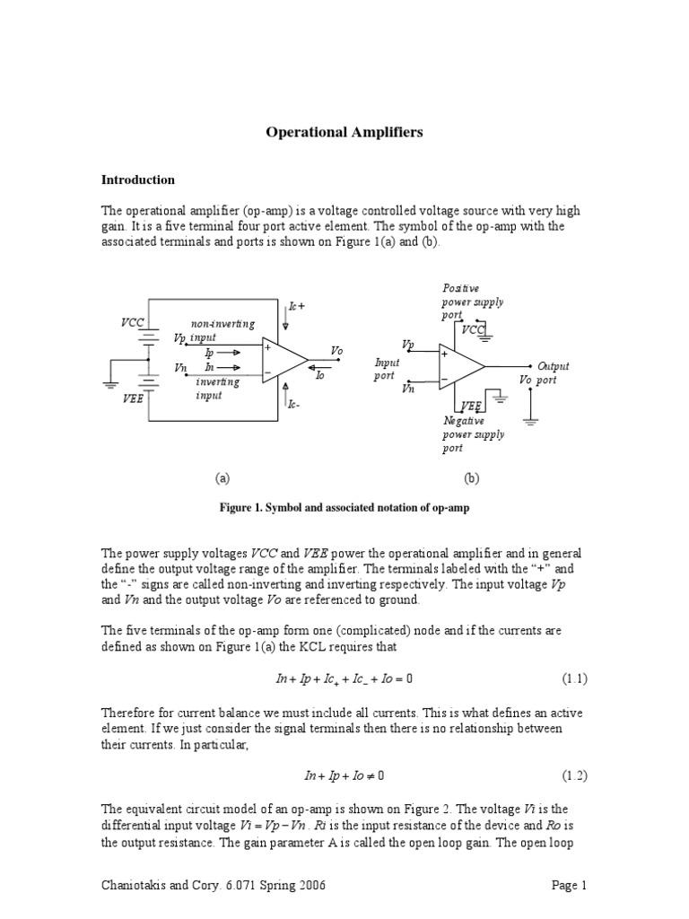 Operational Amplifiers Operational Amplifier Amplifier