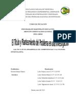 Trabajo Grupal Lineamiento Upel El Titulo y El Planteamiento Del Problema