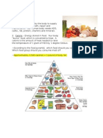 Nutrition Board Notes With Food Pyramid and Eat Well Plate