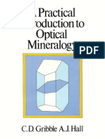 A Practical Introduction to Optical Mineralogy [C.D. Gribble, A.J. Hall]