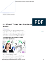 80+ Manual Testing Interview Questions with Answers _ Software Job Post