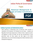 1(C) Historical Background & Origin of Indian Constitution