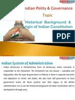 1(C) Historical Background & Origin of Indian Constitution