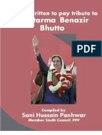 Tribute to Mohtarma Benazir Bhutto