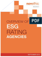 2013 Overview of ESG Rating Agencies