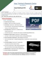 Certified Program in CATIA & ANSYS FEA - 6 Weeks