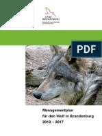 Wolfsmanagementplan Brandenburg 2013-2017
