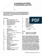 1976 Finite Element Analysis of Orifice Compensated Hydrostatic Journal Bearings Singh Tribology International