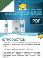 consumer behavior of bottled water