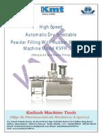 Automatic Dry Powder Filling Machine