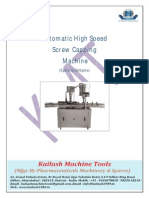 Automatic High Speed Single Head Screw Capping Machine