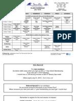 Class Schedule July 2015-Yoga