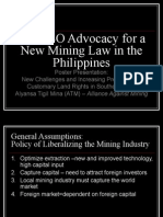 The CSO Advocacy for a New Mining Law in the Philippines by Alliance Against Mining