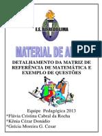 Detalhamento Da Matriz de Referencia de Matematica e Exemplo de Questoes