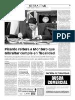 150709 La Verdad CG- Picardo Reitera a Montoro Que Gibraltar Cumple en Fiscalidad p.9