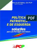 Programaada Eleitoral Pcp Legislativas 2015