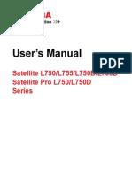Toshiba Satellite L750 User Manual