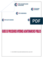 Guide Procedures Achats Marches Publics
