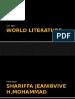 World Literature Lit 102