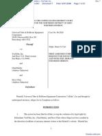 Universal Tube & Rollform Equipment Corporation v. YouTube, Inc. - Document No. 7
