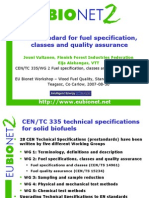 CEN Standards for Fuel Specification