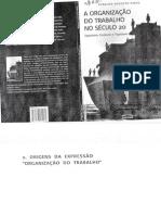PINTO, Geraldo a. a Organização Do Trabalho No Século XX