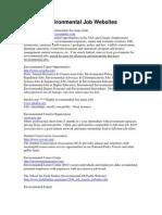 Environmental Job and Social Networking Websites