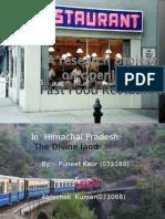 Fast Food Restaurant IHM by abhishek kumar research project
