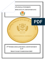 International Banking and Investment Law Moot 2015