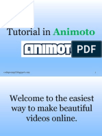 Tutorial in Animoto