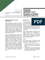 Sci Curriculum (Grade 7 - 9)