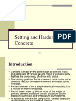 Setting and Hardening of Concrete