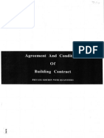Agreement & Condition of Building Contract With Quantities
