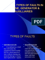 Various Types of Faults in Turbine, Generator