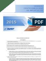 Arancel Centroamericano de Importacion 2015-Version 15 Abril 2015