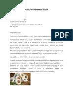 Rosquitas de Almidon de Yuca