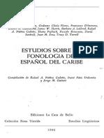 Estudios sobre la fonología del español del Caribe - Shanah Poplack