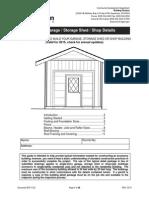 Typical Garage / Storage Shed / Shop Details