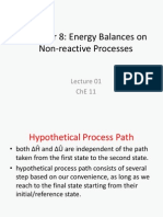 Lecture 01 Energy Balances No Reaction