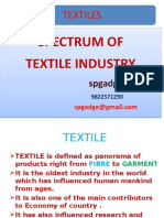 SPECTRUM OF TEXTILE INDUSTRY