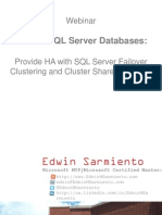 Critical SQL Server Databases